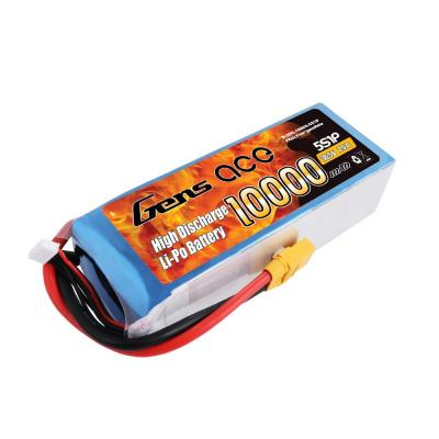 Gens ace 10000mAh 18,5V 25C 5S1P Lipo Battery Pack with XT90