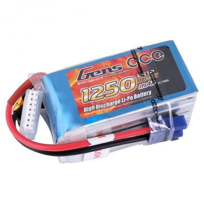 Gens ace  1250mAh 22,2V 60C 6S1P Lipo Battery Pack