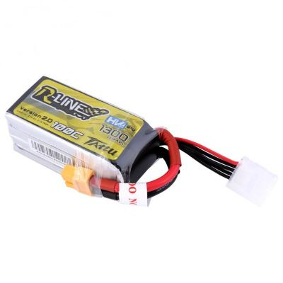 Gens Ace  1300mAh 14.8V 100C 4S1P TATTU RL HV Lipo Battery Pack