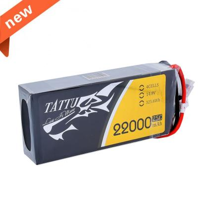 Gens Ace 22000mAh 14.8V 25C 4S1P TATTU Lipo Battery Pack