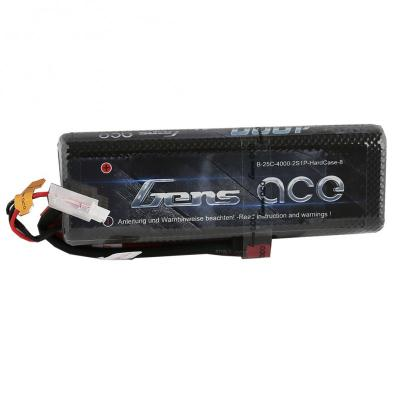 Gens ace 4000mAh 7.4V 25C 2S1P Lipo Hard Case-8 Battery Pack