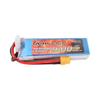 Gens ace  2600mAh 11,1V 25C 3S1P Lipo Battery Pack with XT60