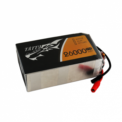 Gens Ace 26000mAh 22.2V 25C 6S1P TATTU Lipo Battery Pack