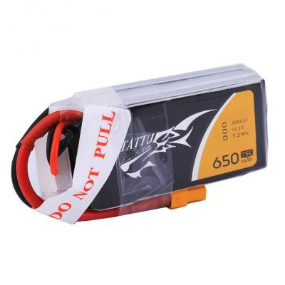 Gens Ace   650mAh 11,1V 75C 3S1P TATTU Lipo Battery Pack