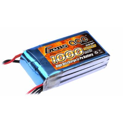 Gens Ace  1000mAh 11,1V 25C 3S1P Lipo Battery Pack