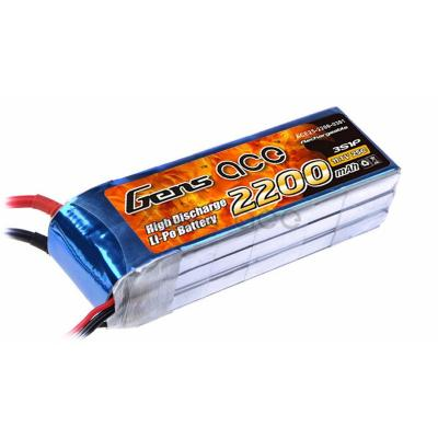 Gens ace  2200mAh 11,1V 25C 3S1P Lipo Battery Pack