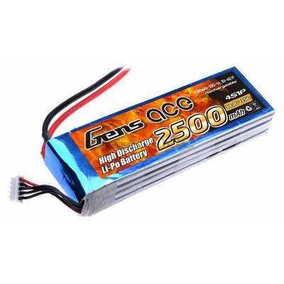 Gens ace  2500mAh 14,8V 25C 4S1P Lipo Battery Pack