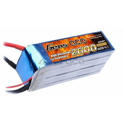 Gens ace  2600mAh 22,2V 25C 6S1P Lipo Battery Pack