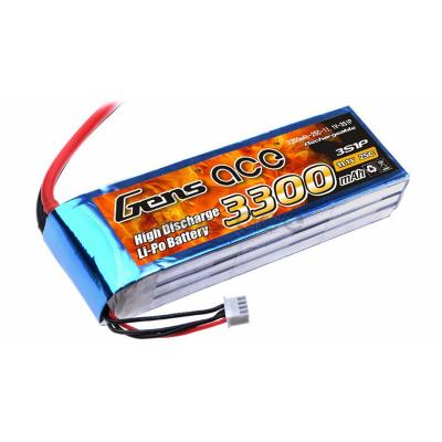 Gens ace  3300mAh 11,1V 25C 3S1P Lipo Battery Pack