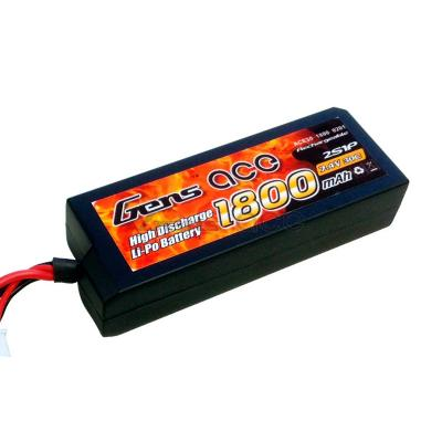 Gens ace 1800mAh 7.4V 30C 2S1P Lipo Hard Case-27 Battery Pack