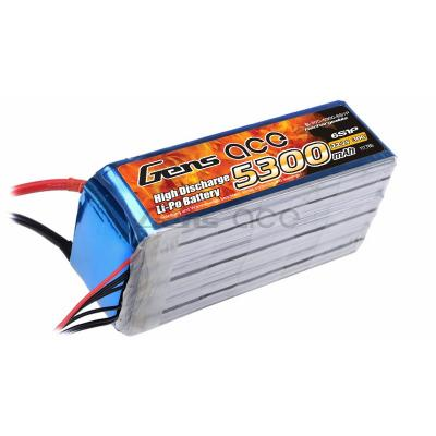 Gens ace  5300mAh 22,2V 30C 6S1P Lipo Battery Pack