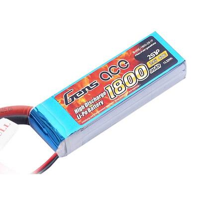 Gens ace  1800mAh 7,4V 40C 2S1P Lipo Battery Pack