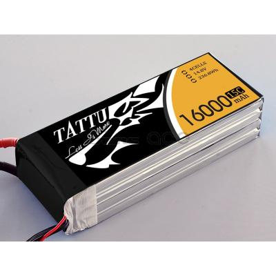 Gens Ace 16000mAh 14.8V 15C 4S1P TATTU Lipo Battery Pack