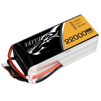 Gens Ace 22000mAh 22.2V 25C 6S1P TATTU Lipo Battery Pack