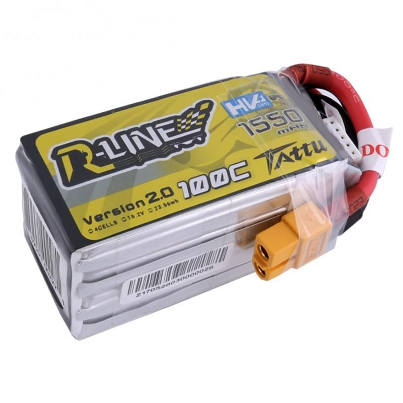 Gens Ace  1550mAh 14.8V 100C 4S1P TATTU RL HV Lipo Battery Pack