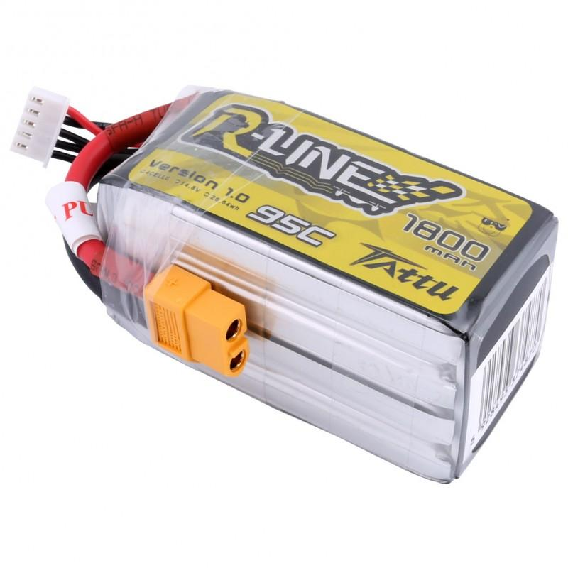 Gens Ace  1800mAh 14.8V 95C 4S1P TATTU RL Lipo Battery Pack