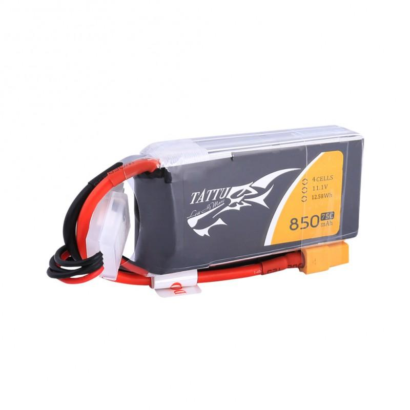 Gens Ace   850mAh 14.8V 75C 4S1P TATTU Lipo Battery Pack