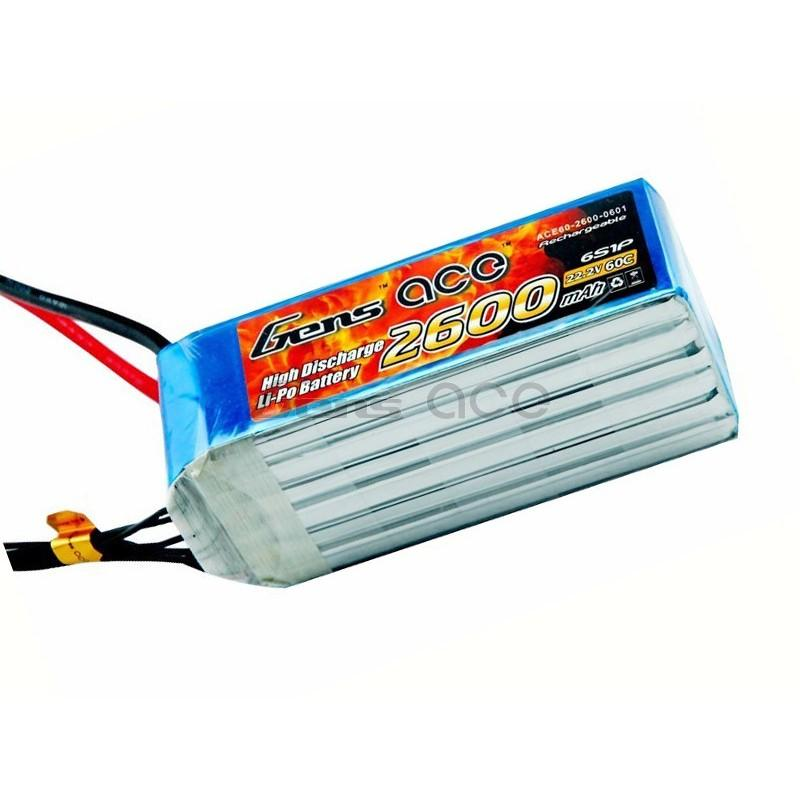 Gens ace  2600mAh 22,2V 45C 6S1P Lipo Battery Pack