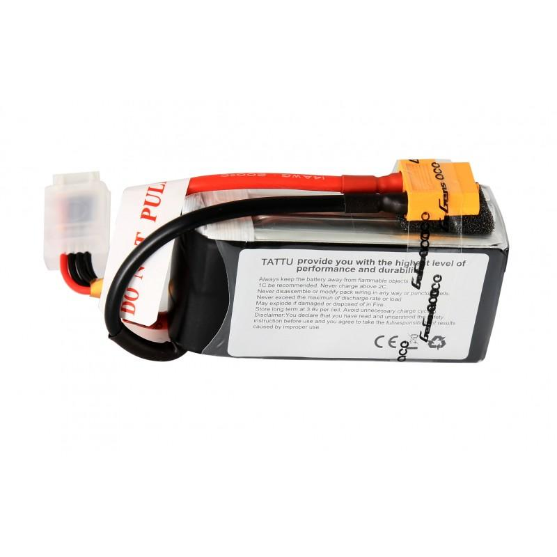Gens Ace  3700mAh 14.8V 45C 4S1P TATTU Lipo Battery Pack