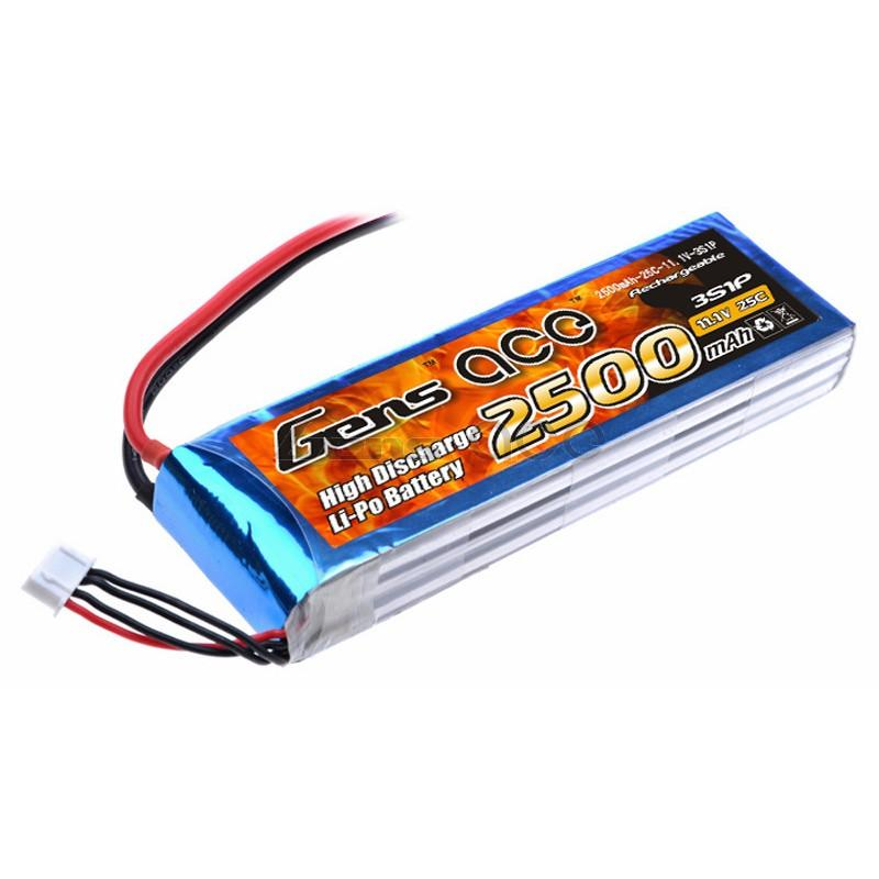 Gens ace  2500mAh 11,1V 25C 3S1P Lipo Battery Pack