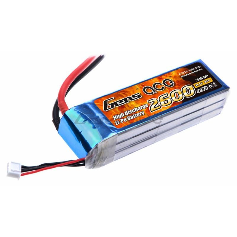 Gens ace  2600mAh 11,1V 25C 3S1P Lipo Battery Pack