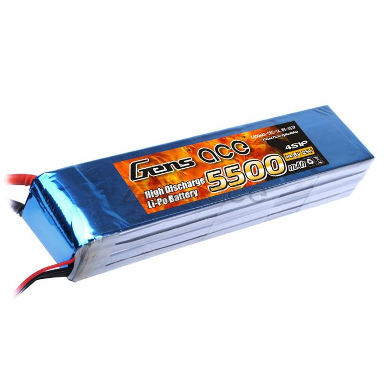 Gens ace  5500mAh 14,8V 25C 4S1P Lipo Battery Pack