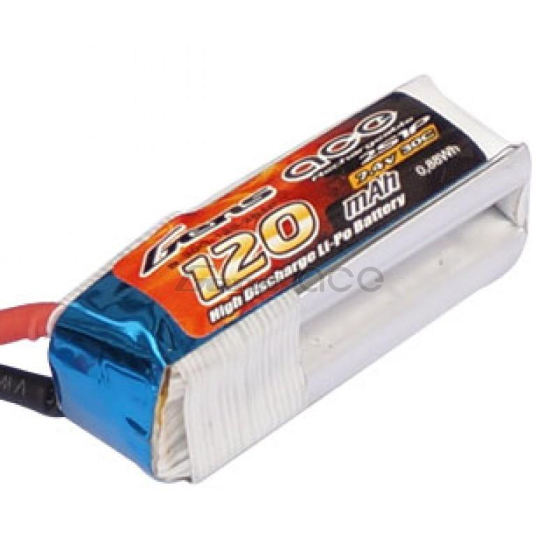 Gens ace   120mAh 7,4V 30C 2S1P F3P Lipo Battery Pack