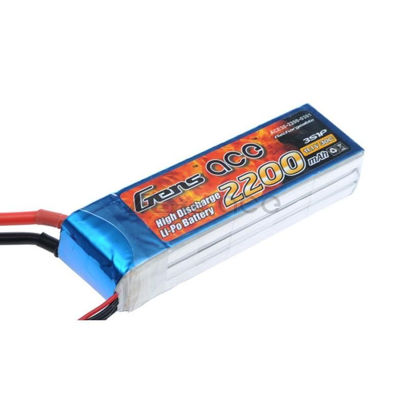 Gens ace  2200mAh 11,1V 30C 3S1P Lipo Battery Pack
