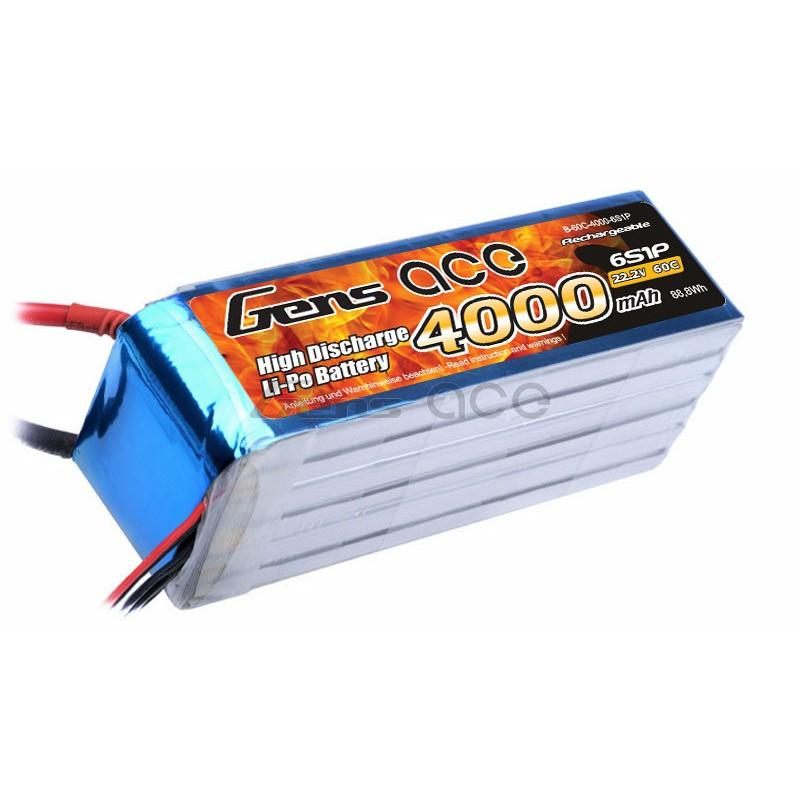Gens ace  4000mAh 22,2V 45C 6S1P Lipo Battery Pack