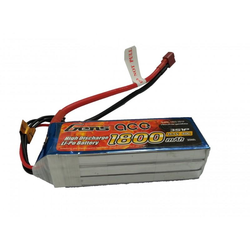 Gens ace  1800mAh 11,1V 40C 3S1P Lipo Battery Pack