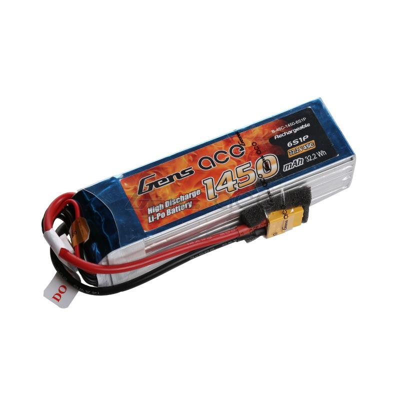 Gens ace  1450mAh 22,2V 45C 6S1P Lipo Battery Pack