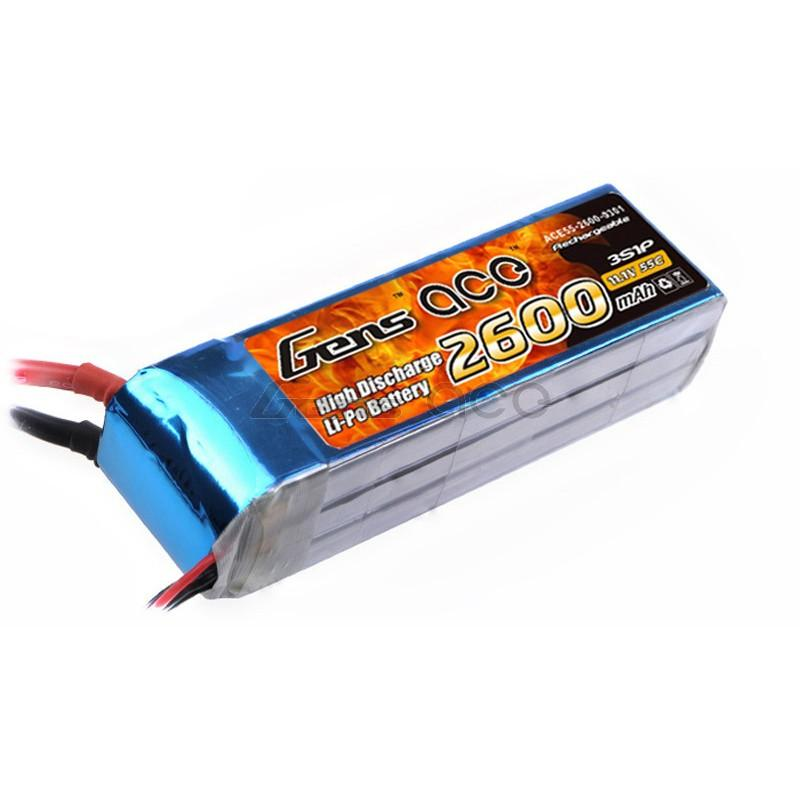 Gens ace  2600mAh 11,1V 55C 3S1P Lipo Battery Pack