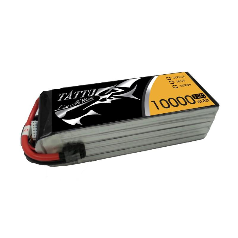 Gens Ace 10000mAh 18,5V 15C 5S1P TATTU Lipo Battery Pack